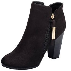 "NEW Breckelle's ""Gina"" Black Suede Booties Sz. 6.5"